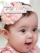 pink baby headband for wedding